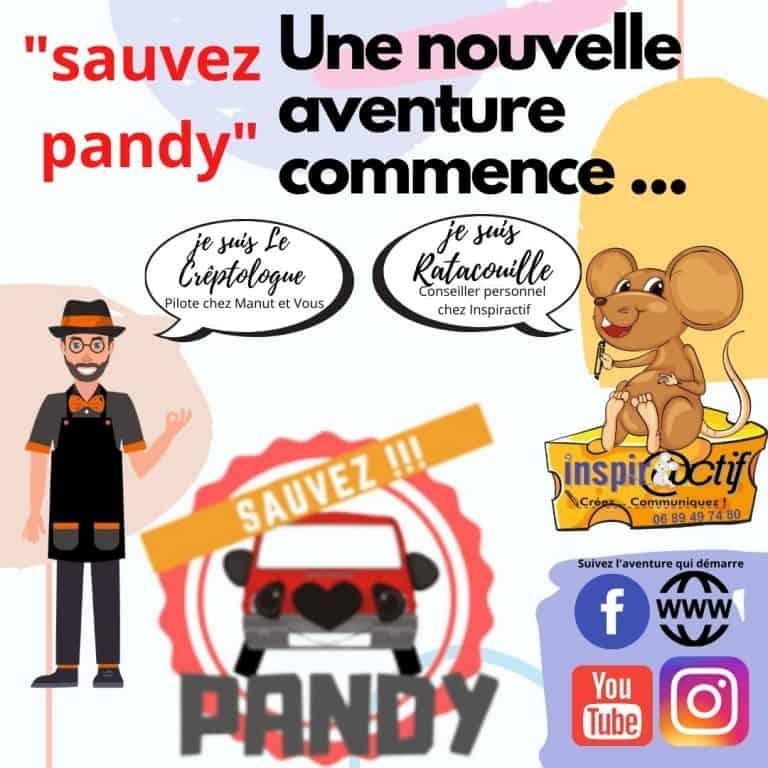 Je pars dans une nouvelle aventure….Sauvez Pandy