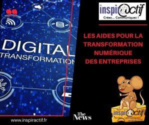 Les aides à la transformation numérique.