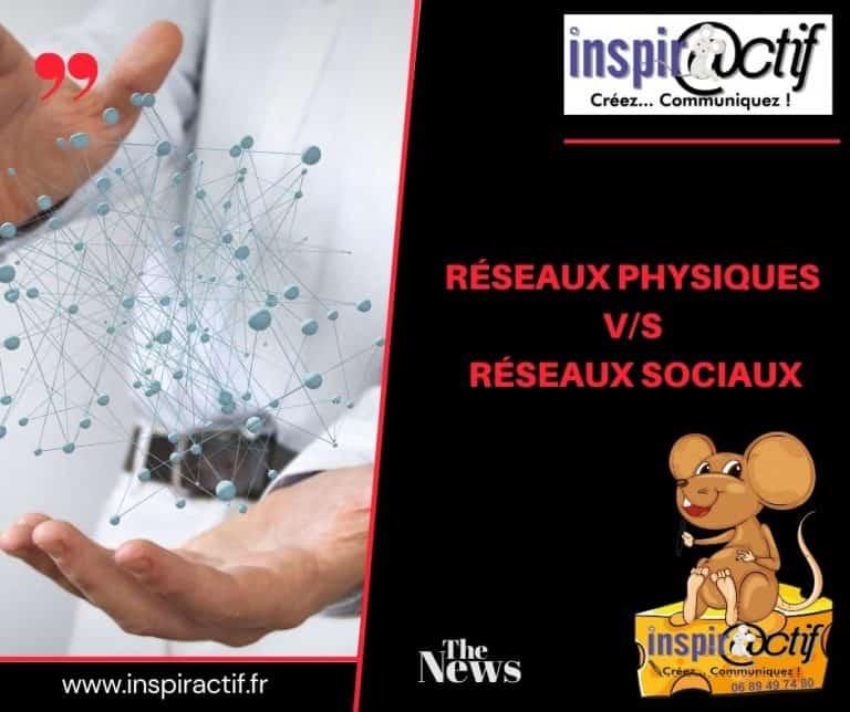 Réseaux sociaux V/S Réseaux physiques.